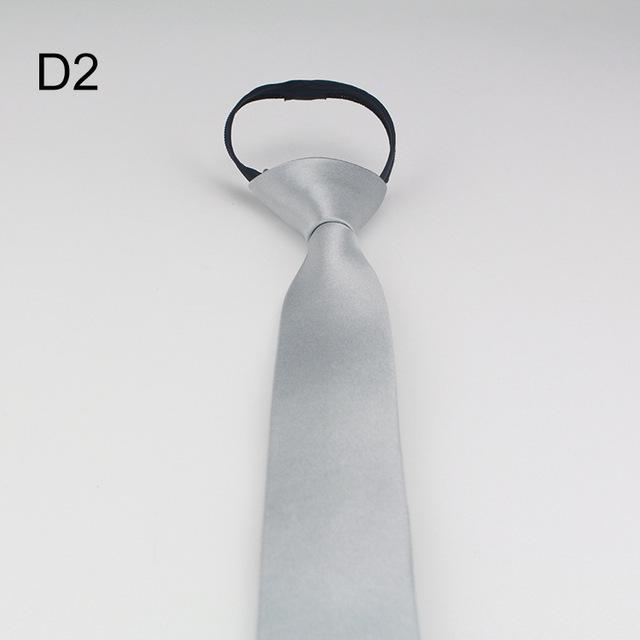 Korean Narrow Version Easy To Pull Lazy Person Zipper Tie Male Businesseosegal-eosegal