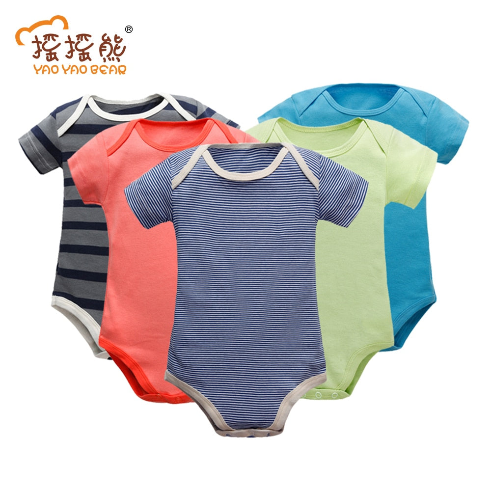 Baby Clothing Short Sleeve Cotton Romper Children O-neck Body for 0-24M Babies Clothing Baby Girl Clothes Children's Bodie-eosegal