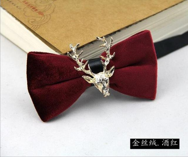 Stylish Golden Deer Bow Tie Fashion Lovely Personality Butterfly Men Bowtieseosegal-eosegal