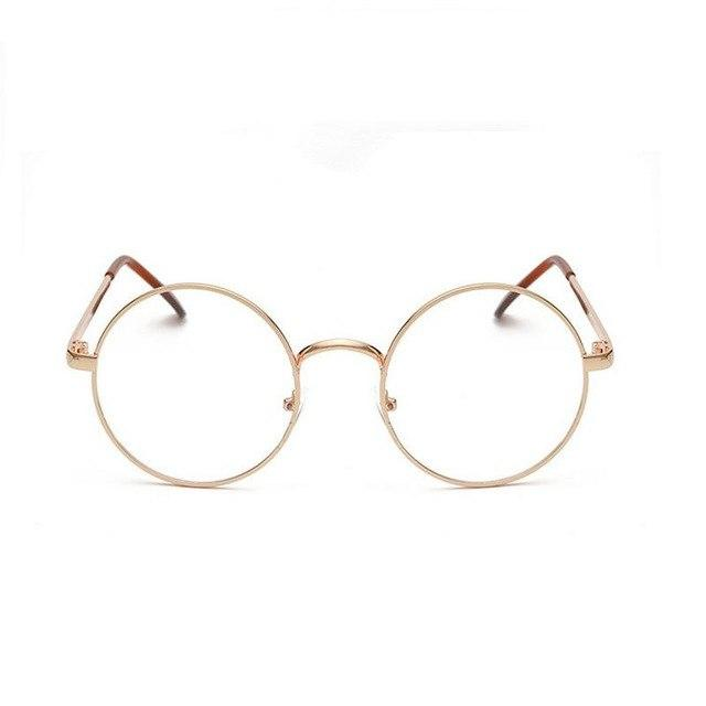 Round Gold Clear Glasses Myopia Clear Frame Glasses Women Men Spectacle Eyeweareosegal-eosegal
