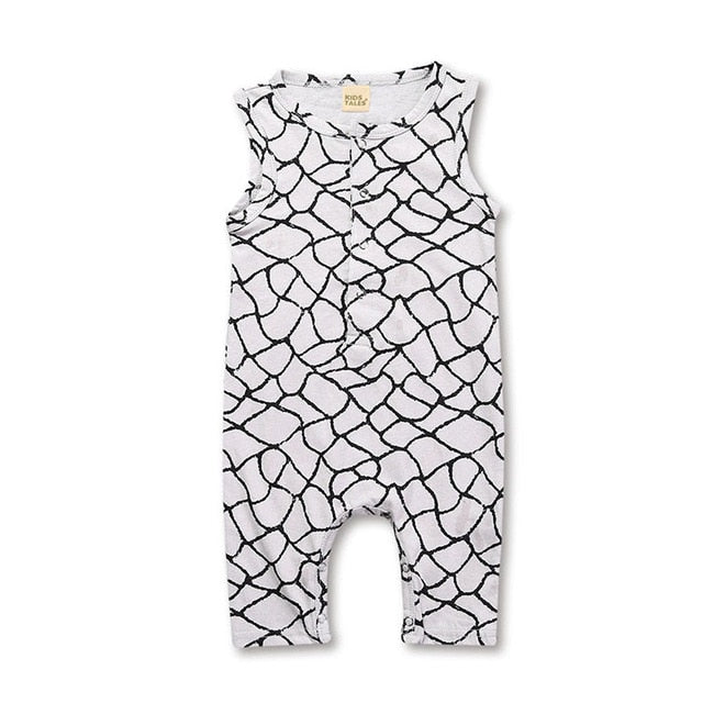 Hot Sale Baby Boy Clothes Fashion Plaid Print Sleeveless Baby Boy Jumpsuits Summer Baby Boys Rompers 4 Styles-eosegal