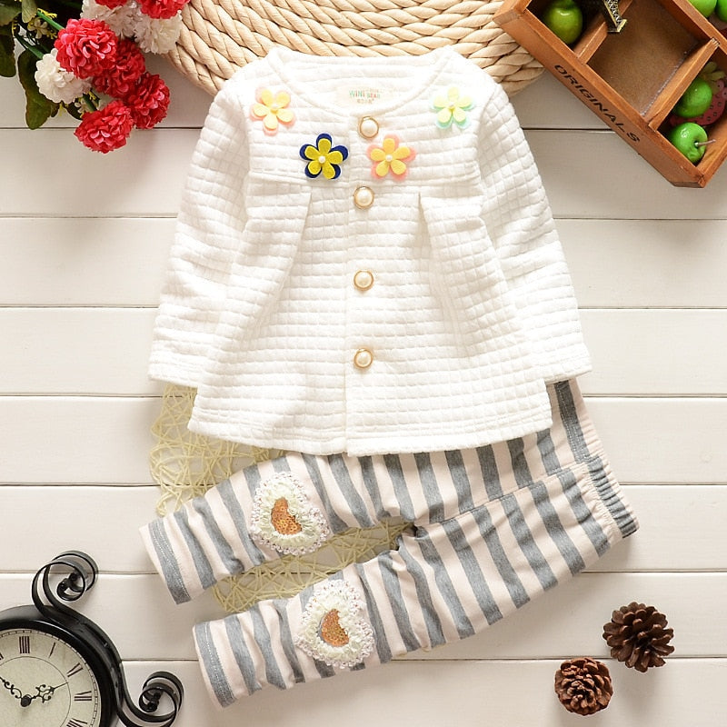 Baby Girl Clothes 2016 Spring Fashion Newborn Baby Girls Clothes Set 3-24M Cotton Full Sleeve Clothing Roupa De Bebes Menina-eosegal