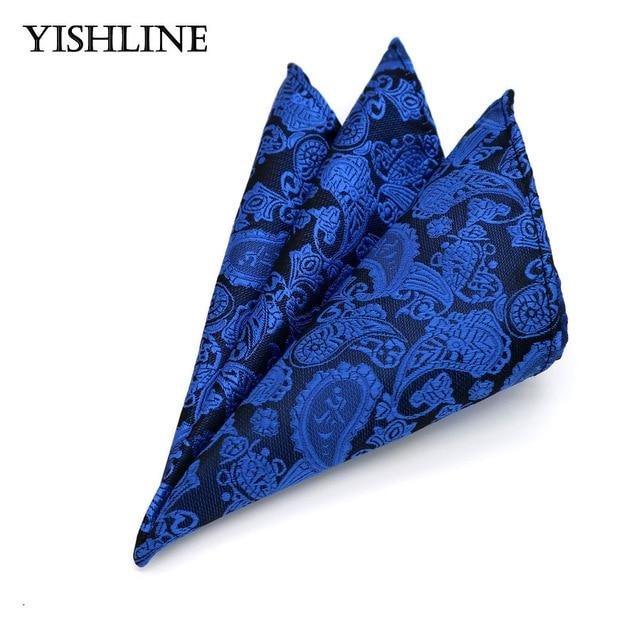 Luxury Men's 100% Silk Handkerchief Hanky Man Paisley Floral Jacquard Woven Pocketeosegal-eosegal