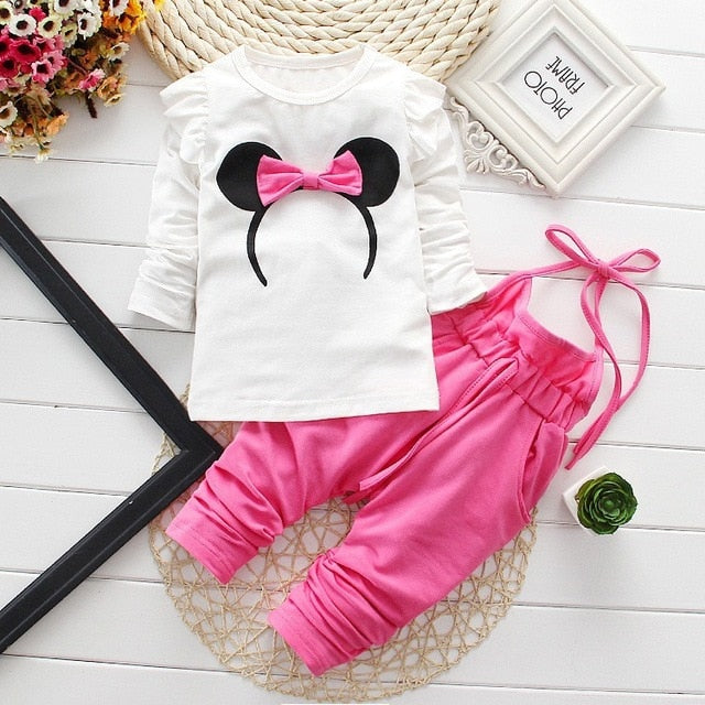 Newborn Baby Girl Clothes 2017 Summer Flying Sleeve Tops + Polka Dot Shorts Cotton 2PCS/Set Baby Girl Outfits Kids Bebes Suits-eosegal