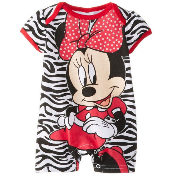 Summer Baby Rompers Cotton Baby Girl Clothes Mickey Baby Boy Clothes Newborn Baby Clothes Roupas Bebe Infant Jumpsuits-eosegal