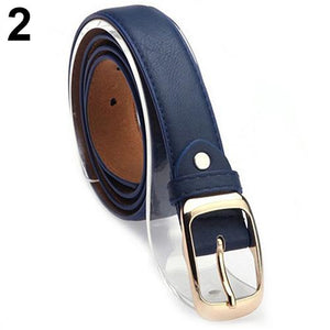 2017 New Fashion Women Faux Leather Alloy Pin Buckle Waist Strap Belt Slim Waistband-eosegal