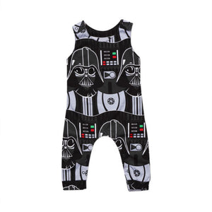 Newborn Infant Kids Baby Boys Sleeveless Cartoon Romper Jumpsuit Clothes Outfits-eosegal