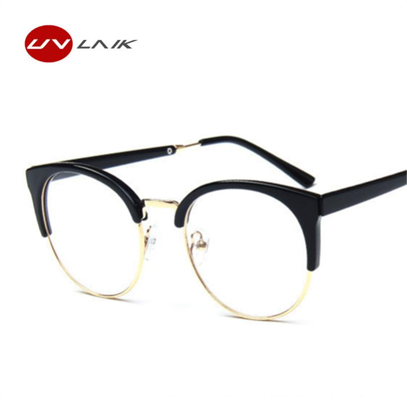 Goggles Optical Spectacles Transparent Glasses Frames Plain Lens Fashion Women Metaleosegal-eosegal