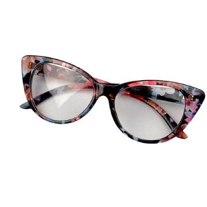 Women Cat Eye Glasses Frames Sexy Striped Retro Eyeglasses Ladies Vintage Spectacleseosegal-eosegal