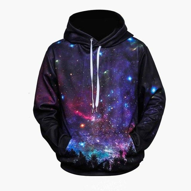 2017 New Fashion Cap Hoodies For Men/Women 3d Sweatshirt Print Astronauteosegal-eosegal