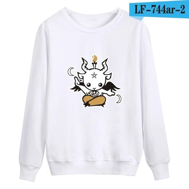 Satan Printing Winter Warm Casual Style Fashion Sweatshirt And Cool Hoodieseosegal-eosegal