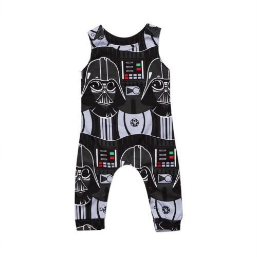 Newborn Infant Kids Baby Boys Star Wars Romper Jumpsuit Clothes Outfits Toddler Boy Girls Print Sleeveless Rompers Clothing Soft-eosegal