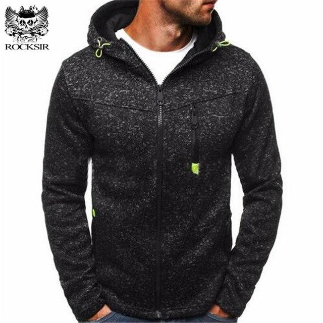 Winter Men Hoodies 2017 Male Zipper Casual jacquard Sweatshirt Fashion Menseosegal-eosegal