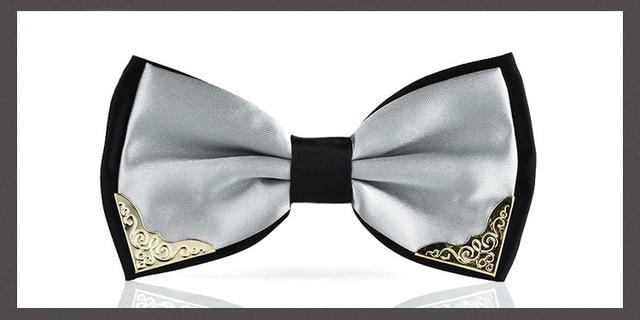 Luxury Boutique Metal Head Bow Ties for Men Women Butterfly Pink Boweosegal-eosegal