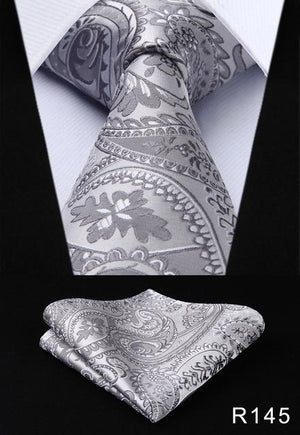 "Paisley flower 3.4""Silk Woven Wedding Men Tie Necktie Pocket Square Classiceosegal-eosegal"