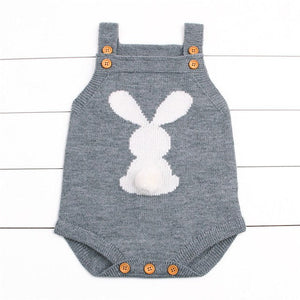 2017 Newborn Baby Boys Girls Rabbit Knitting Wool Sleeveless Bodysuit Jumpsuit Outfits Cute Sweater Anime Clothing-eosegal