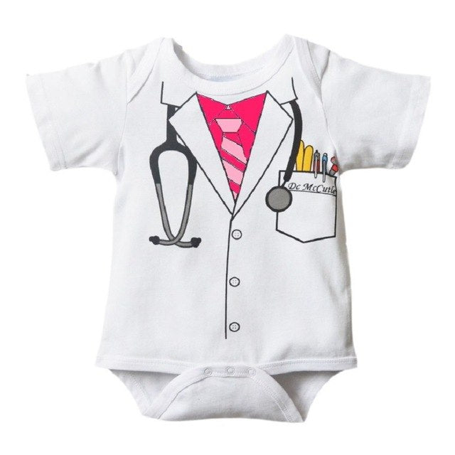 Hooyi Baby Boy's Bodysuits Officer Doctor Costumes Tuxedo body suits TOP QUALITY Newborn Clothes Jumpsuit 100% Cotton-eosegal