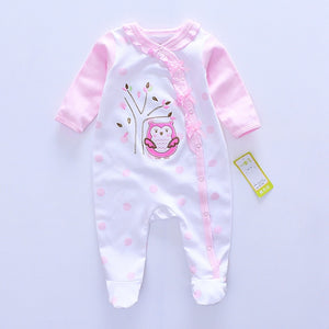 2017 Fashion Baby girl Romper Newborn rompers Baby Boy Girl Romper Long Sleeve Infant Jumpsuits Soft Cotton Baby Clothes Pajamas-eosegal