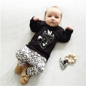 Baby boy clothing set cotton long sleeved printing t-shirt+pants fashion baby boys clothes newborn infant 2pcs suit-eosegal