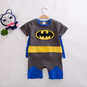 Retail 1 piece Baby boy girl rompers 100% Cotton Autumn long sleeve Superman Rompers with Cloak Bebe custume toddler Clothes-eosegal