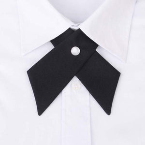 Mantieqiangway Cross Collar Tie for Men Formal Solid Color Wedding Party Buttoneosegal-eosegal