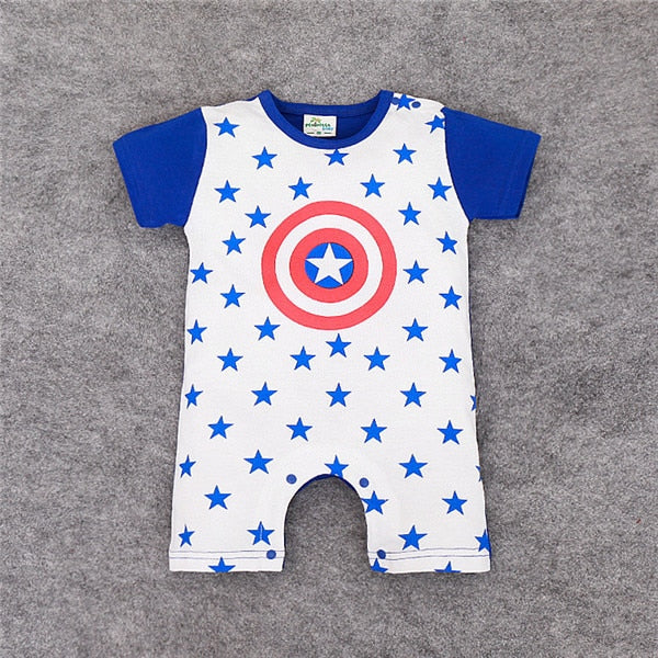 Retail Baby Rompers Fashion design Superman Spider-Man Baby Boys Girls costume Jumpsuits Roupas Bebes Newborn Infant Clothes-eosegal