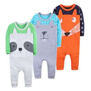 Baby Romper Long Sleeves Baby Clothing Comfortable Baby Pajamas High quality 100% Cotton Newborn Baby Girls Boys Clothes-eosegal