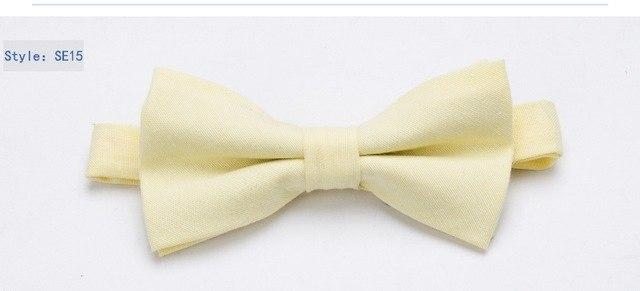 Bowtie 100% Cotton plain dyed Solid Bow Tie Party Accessories Gifteosegal-eosegal
