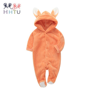 HHTU Spring Autumn Baby Clothes Flannel Baby Boy Clothes Cartoon Animal Jumpsuit Baby Girl Rompers Baby Clothing Pajamas-eosegal