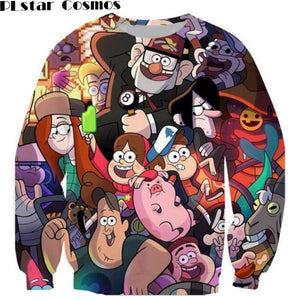 O-Neck Crewneck Gravity Falls Sweatshirt Long Sleeve Sweats Jumper Tops Outfitseosegal-eosegal