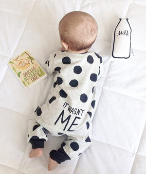 2018 Hot selling Fashion Baby Boy Girl Clothes Newborn Toddler Long-sleeved Dot jumpsuit Infant Clothing set Outfits-eosegal