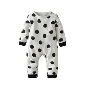 Autumn 2018 New Baby Romper Long-sleeved Dot Newborn Toddler Jumpsuit Baby Boys Girls Clothes Infant Clothing-eosegal