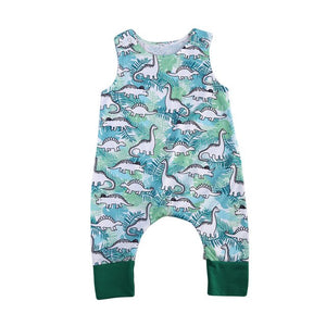 Autumn 2017 Infant Baby Boys Girls Romper Jumpsuit Toddler Sleeveless Cotton Clothes For 3-18M-eosegal