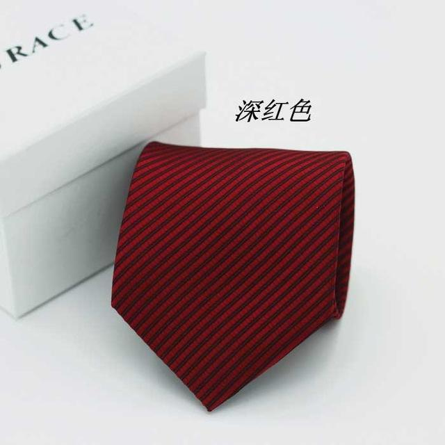2017 designer brand necktie groom ties men gentleman 8cm streak wedding partyeosegal-eosegal