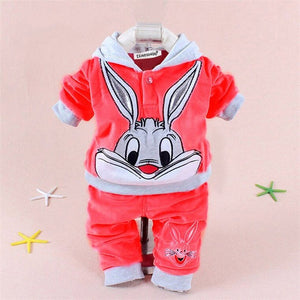 KEAIYOUHUO Spring 2018 Baby Girl Clothes Cartoon Infant T-shirt+Pants Cotton Two-Piece Long Sleeve Outfit Suit Baby Boy Clothing-eosegal