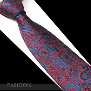 Red Paisley Tie Fashion Silk Jacquard Woven Ties for Men Weddingeosegal-eosegal