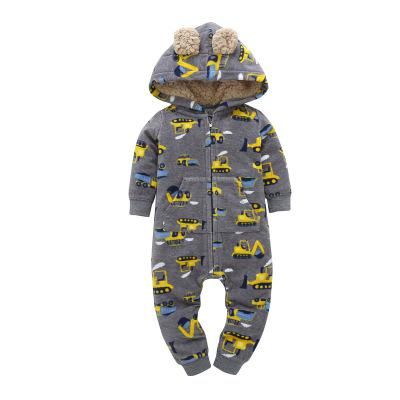 Orangemom 2018 autumn fleece baby rompers coats for infant clothes hooded with ear lovely camo jumpsuits for baby clothes-eosegal