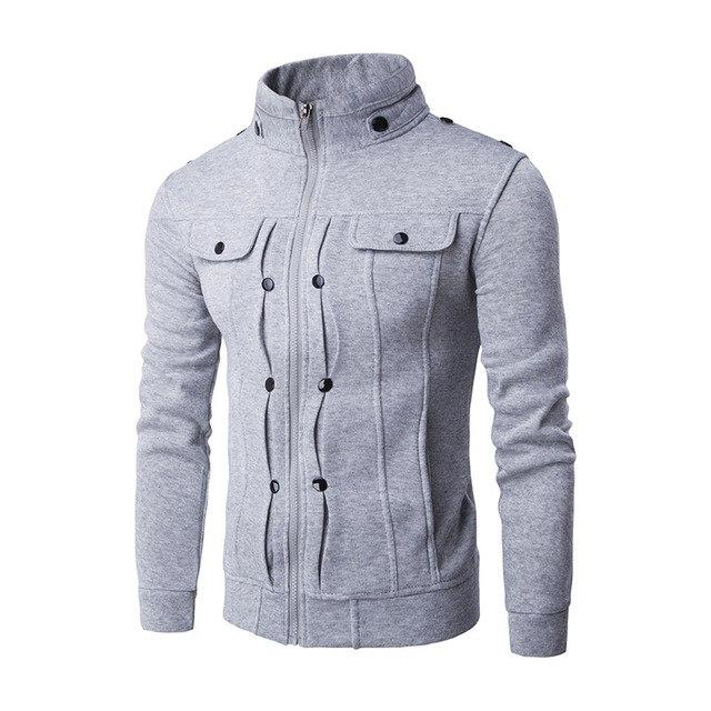 2017 Winter Thick Mens Hoodies Cardigan Pockets Casual Long Sleeve Hoodies Menseosegal-eosegal