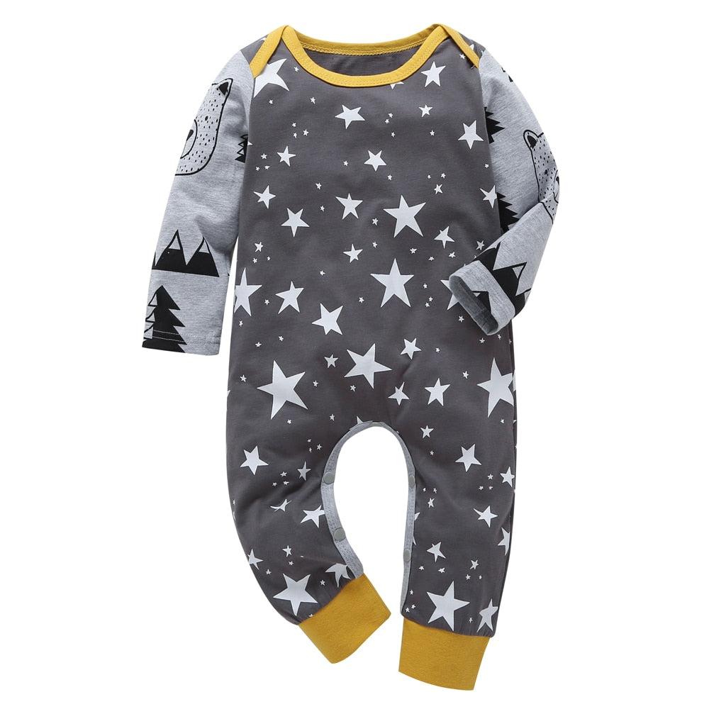 2018 Autumn Baby Boys Clothes Set Long sleeve baby rompers Newborn clothes Xmas clothing jumpsuit Outfits baby girl costume-eosegal