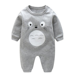 2018 spring - Autumn baby boy clothing Cotton Long Sleeved baby boy clothes ,cartoon Beard Gentleman baby romper Infantil babies-eosegal