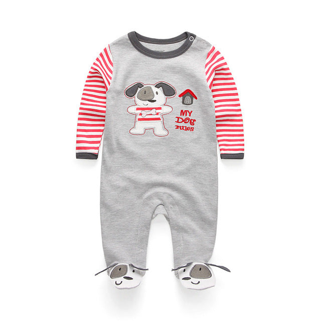 2018 baby clothes Full Sleeve cotton infantis baby clothing romper cartoon costume ropa bebe 3 6 9 12 M newborn boy girl clothes-eosegal