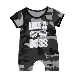 Toddler Infant Baby Clothing Boy Kids Cotton Romper Short Sleeve Jumpsuit Camouflage Summer Casual Baby Clothes Outfit-eosegal