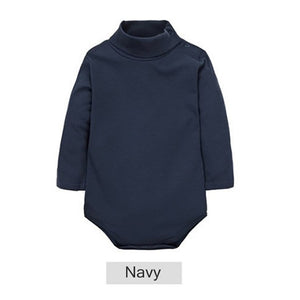 2018 New Baby Rompers baby boys girls clothes turn-down collar baby clothes Jumpsuit Long Sleeve Infant Product Solid color-eosegal