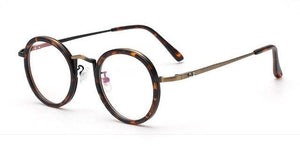Fashion Eyeglasses Vintage Clear Lens Round Glasses Frame Men Women Retro Computereosegal-eosegal