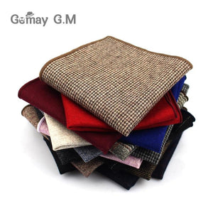 Fashion Wool Handkerchief For Men Suit Solid Pocket Square Business Hankies Classiceosegal-eosegal