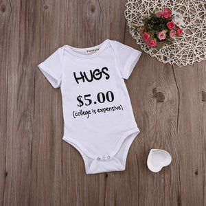 Newborn Baby Boys Girls Infant Funny Bodysuit Playsuit Clothes Outfits 0-24M Short Sleeve Casual Bodysuit-eosegal