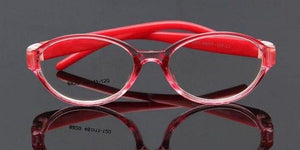 Kids Optical Eyeglasses Ultra-light Oval No Screw Bendable, Children Glasses Frame, Siliconeeosegal-eosegal