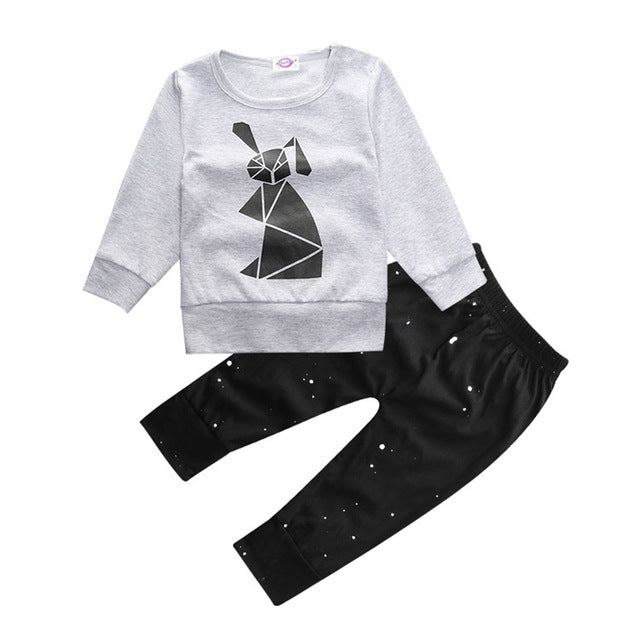 2018 baby boy long-sleeved clothing top + pants 2 pcs sport suit children's clothes set newborn crown children's clothing TZ-333-eosegal