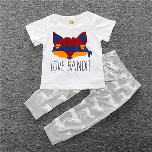 SY130 2018 new arrival summer baby boy's clothes letter printed shirt + pants 2 pcs. set children clothing kids clothes retail-eosegal