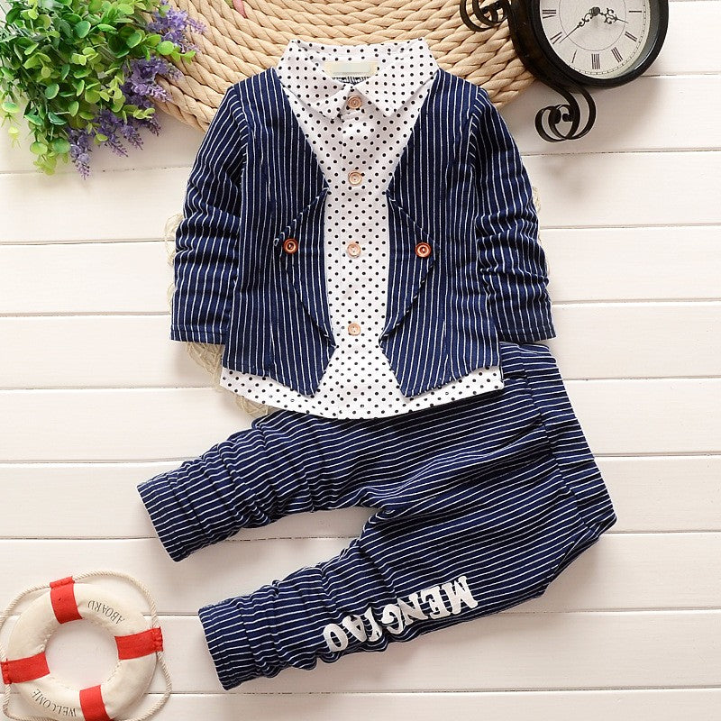 BibiCola new style Fashion baby boy clothes set gentleman party and wedding Kids Boy Clothing Set free shipping-eosegal